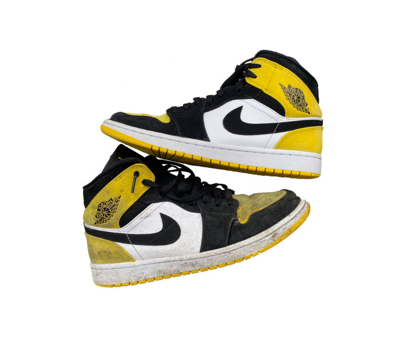 Nettoyage Air Jordan 1 mid yellow toe